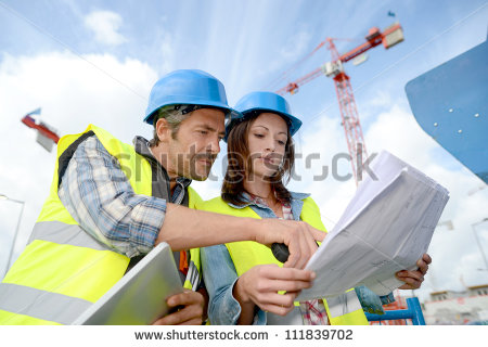 stock-photo-construction-manager-and-engineer-working-on-building-site-111839702